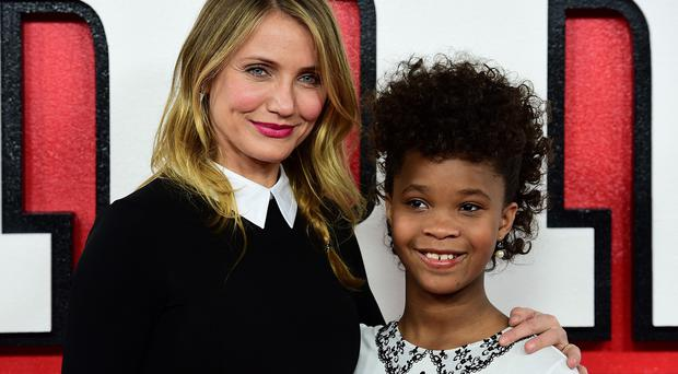 Cameron Diaz looked after her Annie co-star Quvenzhane Wallis on set