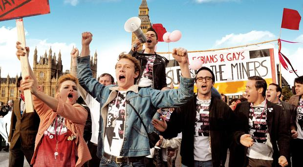 Pride's US DVD cover has been edited to remove references to homosexuality (Pathe)