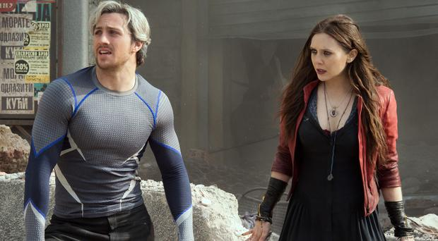 Aaron Taylor-Johnson and Elizabeth Olsen star in Marvel's Avengers: Age Of Ultron (Jay Maidment/Marvel)