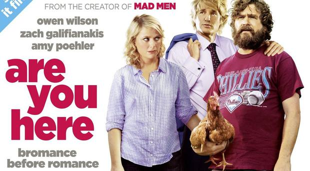Are You Here stars Own Wilson, Zach Galifianakis and Amy Poehler (Lionsgate UK Home Entertainment)
