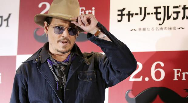 Johnny Depp was in Japan to promote Mortdecai