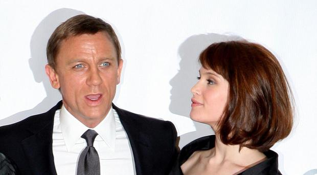 Gemma Arterton with Daniel Craig, with whom she starred in Bond film Quantum Of Solace