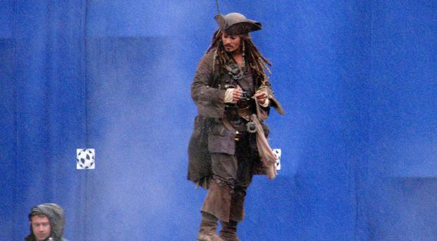 A hand injury to Johnny Depp means Captain Jack Sparrow must wait before embarking on his next voyage