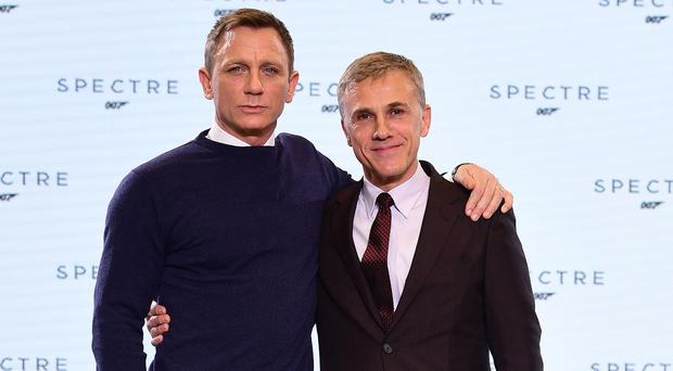 Daniel Craig and Christoph Waltz both star in new Bond film Spectre