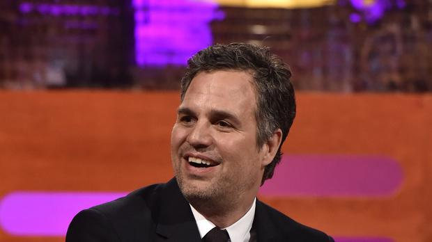 Mark Ruffalo during filming for the Graham Norton Show