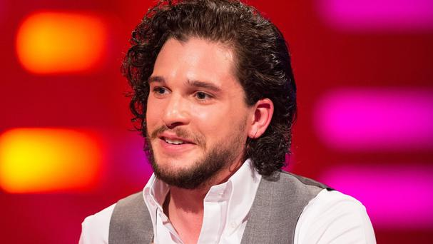 Kit Harington during filming of the Graham Norton Show
