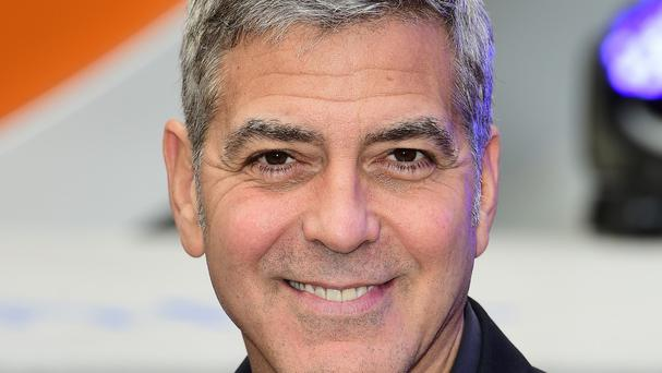 George Clooney arrives for the premiere of Tomorrowland: A World Beyond, at the Odeon Leicester Square