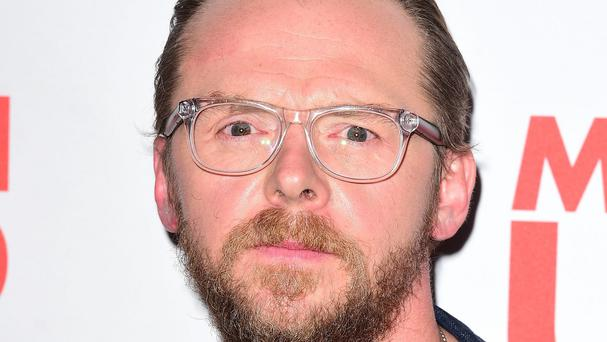 Actor Simon Pegg criticised the 'dumbing down' of cinema