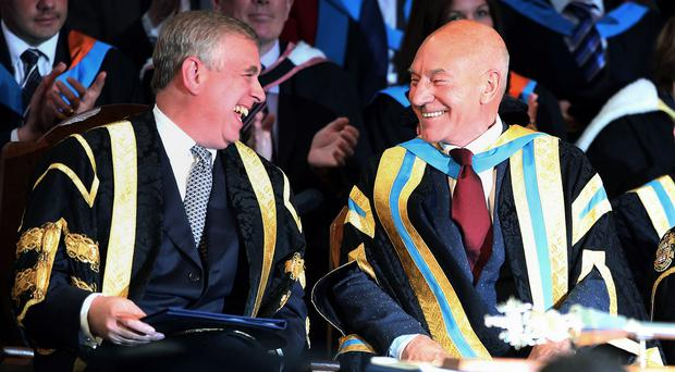 The Duke of York is replacing Sir Patrick Stewart as chancellor of the University of Huddersfield