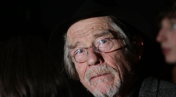 Actor Sir John Hurt, who is to receive his knighthood from the Queen at Windsor Castle