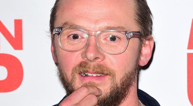 Simon Pegg is starring alongside Rebecca Ferguson and Tom Cruise in Rogue Nation