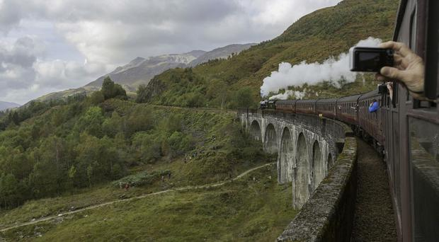 Harry Potter film location Glenfinnan viaduct is featured in the Highlands & Skye movie map