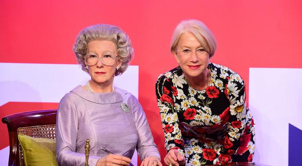 Dame Helen Mirren meets the Queen as played by herself