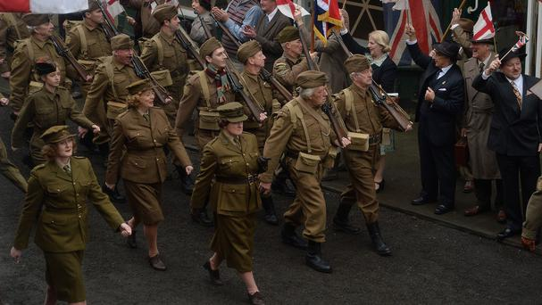 Bridlington doubles as Walmington-on-Sea for the film version of Dad's Army