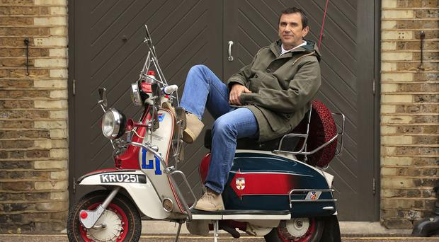 Phil Daniels is reunited with his Lambretta scooter from the film Quadrophenia