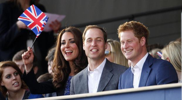 Kate, William and Harry will be at the Royal Albert Hall on Monday October 26