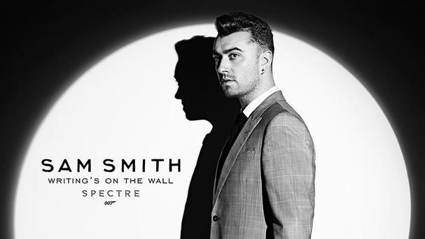 Sam Smith has hit top spot with Writing's On The Wall, the theme song for Bond movie Spectre (@007/PA)