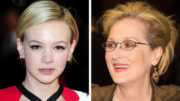 Carey Mulligan (left) and Meryl Streep whose political period drama Suffragette will open this year's London Film Festival