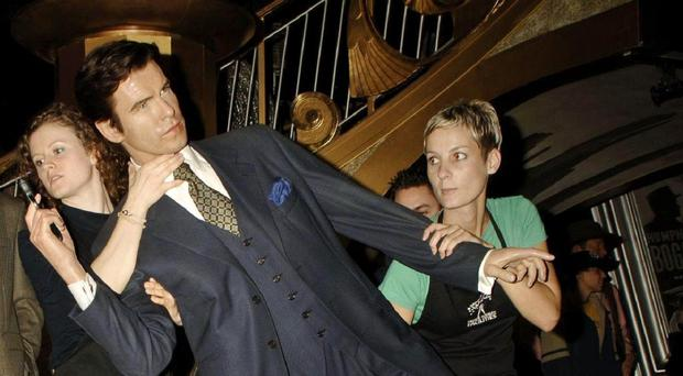 Pierce Brosnan's waxwork on the day Daniel Craig took over the role of James Bond