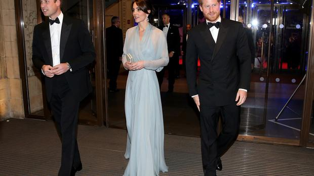 The Duke and Duchess of Cambridge and Prince Harry join A-list stars at the world premiere of Spectre