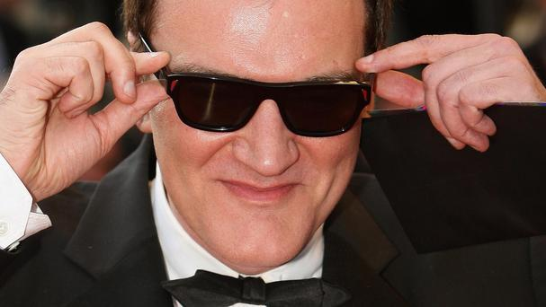 Director Quentin Tarantino is in London for his latest premiere