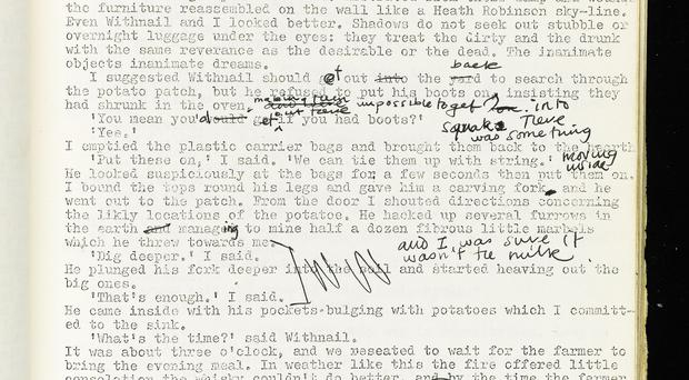An early draft of Withnail and I (Bruce Robinson/Sotheby's/PA)