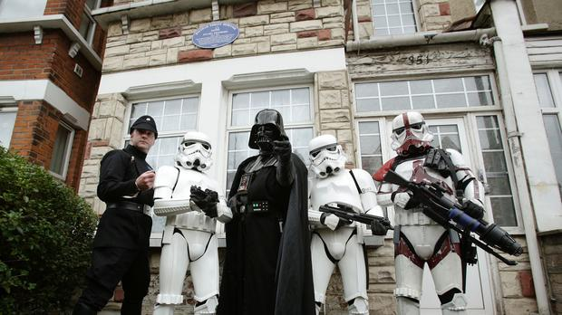 A blue plaque has been unveiled to honour Stuart Freeborn, the Star Wars make-up artist