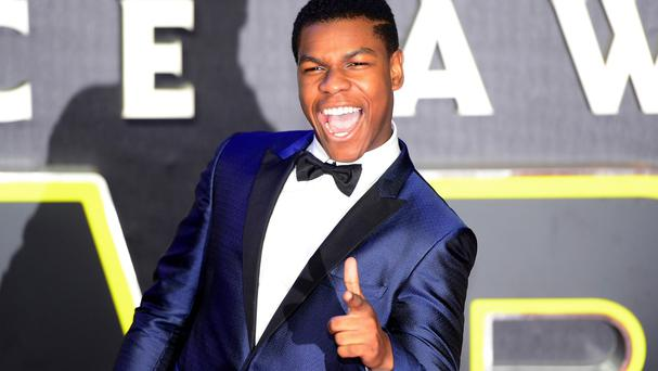 John Boyega attending the Star Wars: The Force Awakens European premiere in Leicester Square, London