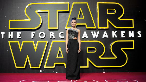 Daisy Ridley attending the Star Wars: The Force Awakens European premiere in London