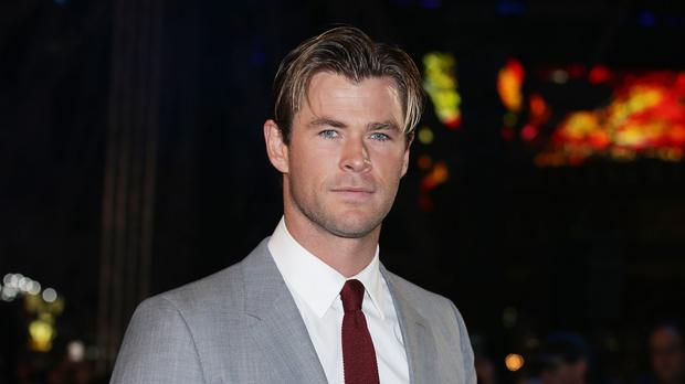 Chris Hemsworth arriving for the European premiere of In The Heart Of The Sea in Leicester Square, London