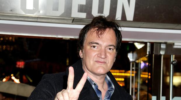 Quentin Tarantino at the premiere of The Hateful Eight in London