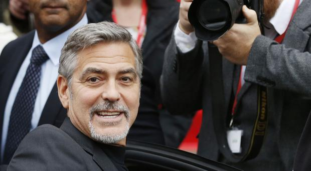 George Clooney on a visit to Scotland last month