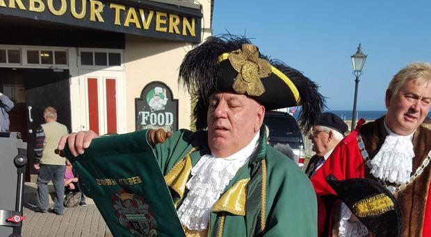 Bridlington's town crier David Hinde is said to be the world's loudest