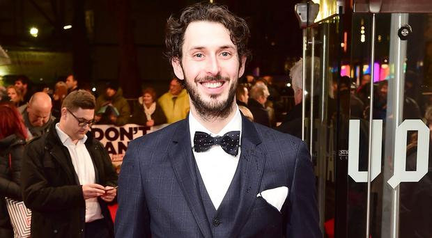 Blake Harrison, who plays clueless Private Pike, at the world premiere