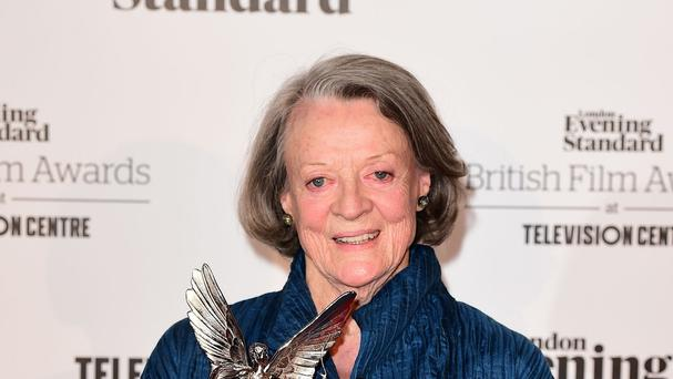 Dame Maggie Smith wins the Best Actress award at the London Evening Standard British Film Awards at the Television Centre, White City, London.