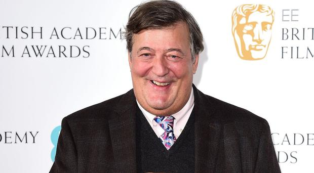 Stephen Fry attending the EE British Academy Awards nominations announcement at BAFTA, London