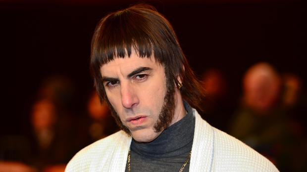 Sacha Baron Cohen in character as 'Nobby' attending The World Premiere of Grimsby.