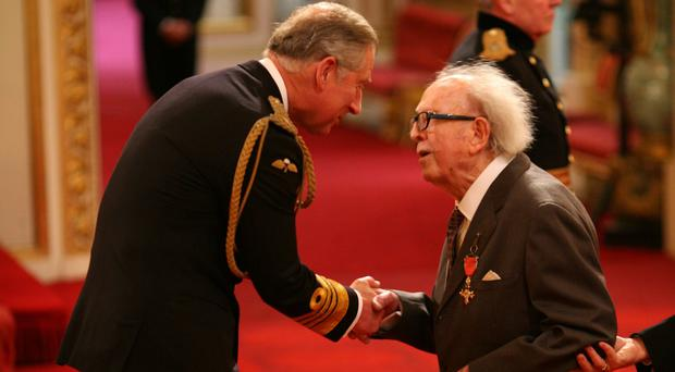 Douglas Slocombe was made an OBE by the Prince of Wales in 2008