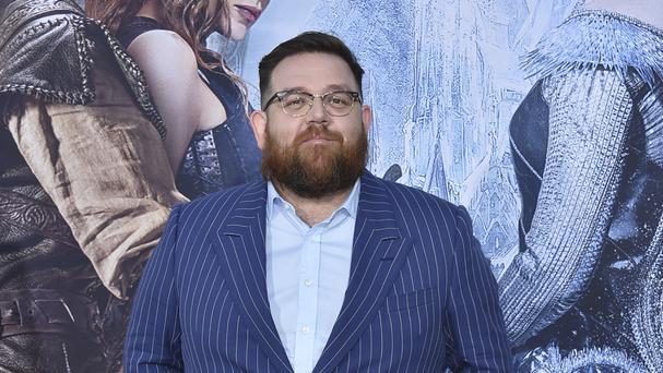 Nick Frost arrives at the LA Premiere of The Huntsman: Winter's War in LA - he plays a dwarf role in the film (AP)