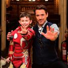 Robert Downey Jr meets seven-year-old Ethan Miller