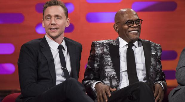 Tom Hiddleston and Samuel L Jackson on The Graham Norton Show