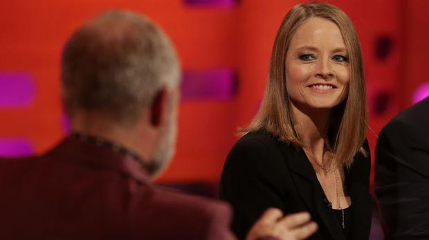 Jodie Foster during the filming of The Graham Norton Show (So TV/PA)