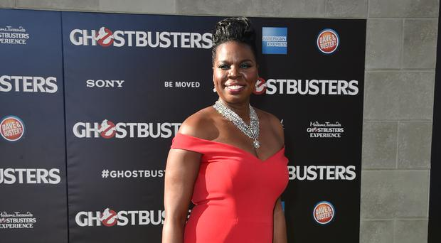 Leslie Jones arriving at the LA premiere of Ghostbusters - the star has suffered horrific racist abuse on Twitter (AP)