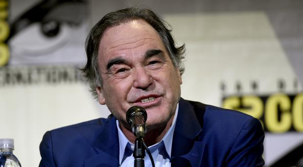 Oliver Stone attending the Snowden panel at Comic in San Diego (AP)