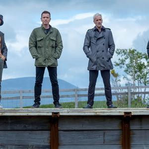 The trailer features all four main cast members on a station platform, in a nod to the original Trainspotting (Sony Pictures/PA Wire)