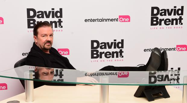 Ricky Gervais attending the world premiere of David Brent: Life On The Road at Leicester Square, London.
