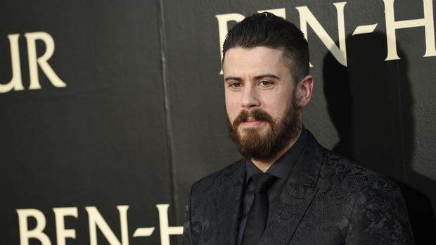 British actor Toby Kebbell at the premiere of Ben-Hur in Los Angeles (AP)