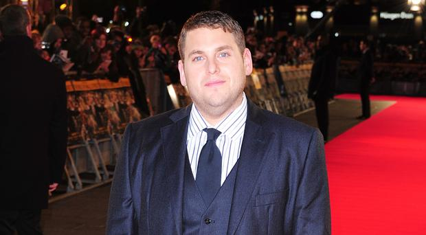 Jonah Hill at the UK premiere of The Wolf of Wall Street in London's Leicester Square