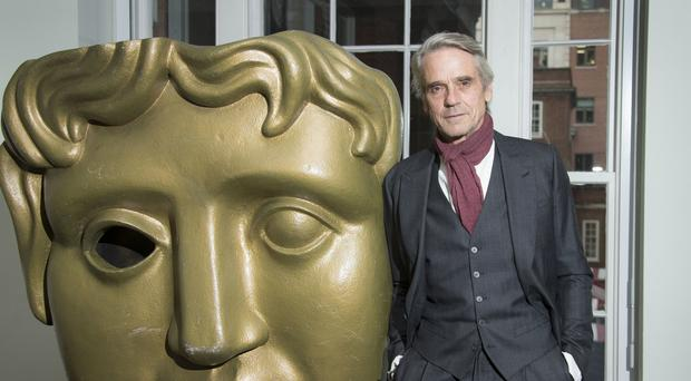 Actor Jeremy Irons at Bafta headquarters in central London (AP)