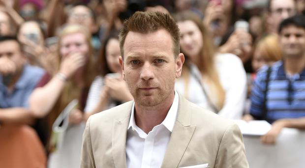 Ewan McGregor arrives at the American Pastoral premiere on day two of the Toronto International Film Festival (AP)
